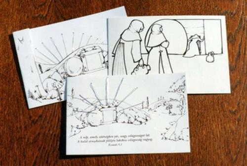 Aranyszálas húsvéti képeslap