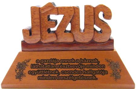 Asztali dísz, fa, betűs (JÉZUS) - GW-20aH