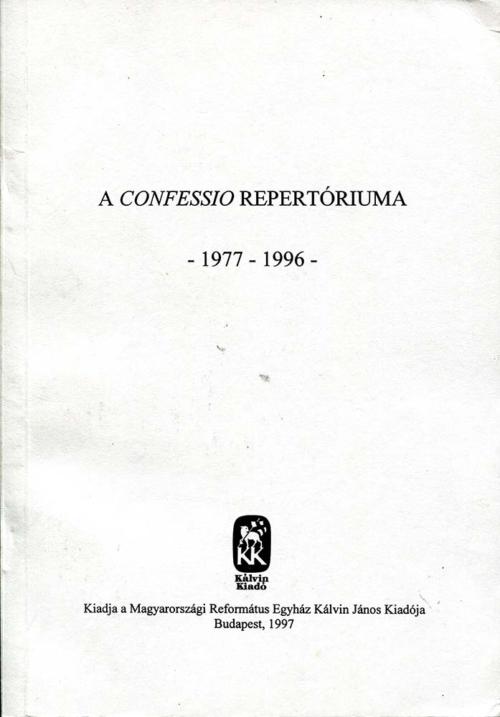 A Confessio repertóriuma