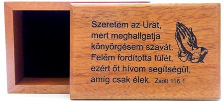Doboz, fa (Szeretem az Urat) - BEP-495H