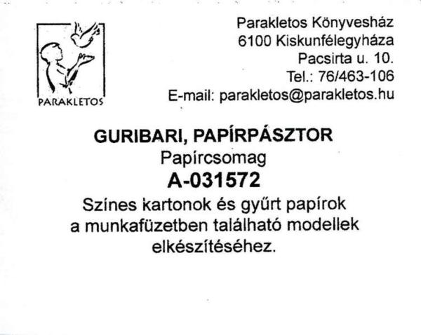 Guribari, papírpásztor - papírcsomag