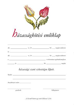 Házasságkötési emléklap (virágos)