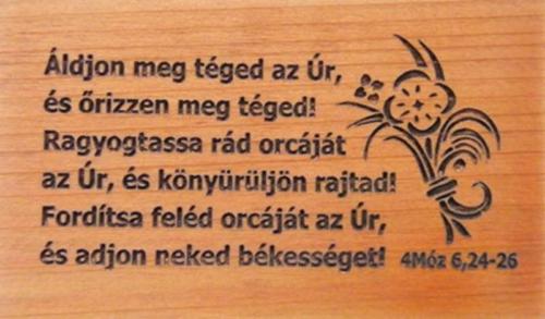 Hűtőmágnes,fa,szögletes (Áldjon) - EP18M-357H