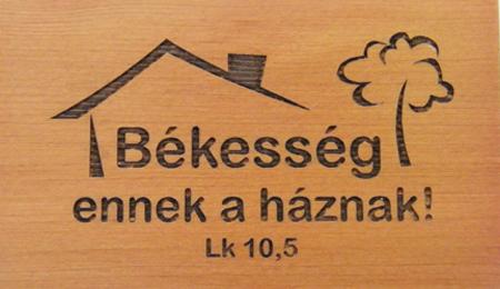 Hűtőmágnes,fa,szögletes (Békesség) - EP18M-47H