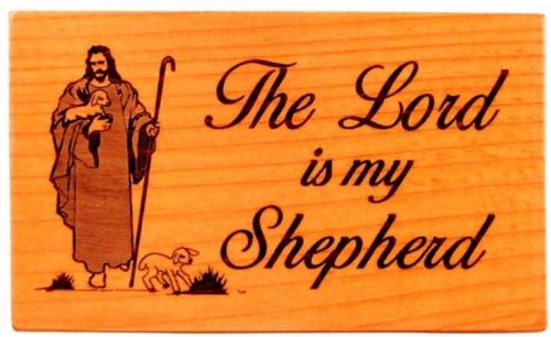 Hűtőmágnes, fa, szögletes, (The Lord) - EP18-06