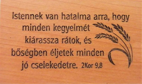 Hűtőmágnes, fa, szögletes (Istennek) - EP18M-682H