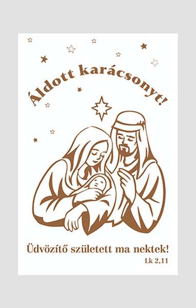 Karácsonyi tasak – Üdvözítő született igével