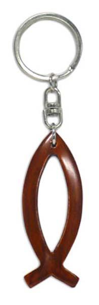 Kulcstartó, fa, hal alakú - GK10-99