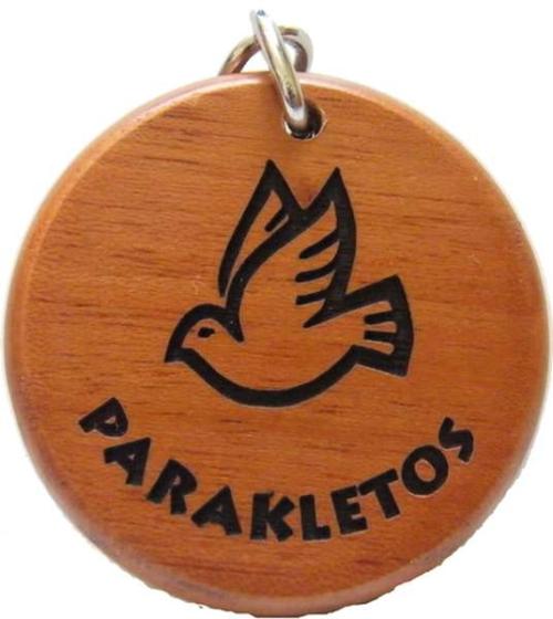 Kulcstartó, fa, kerek (Parakletos) - GK02-680H