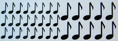 Matrica hangjegyek