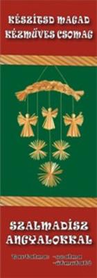 Szalmadísz angyalokkal - kézműves csomag