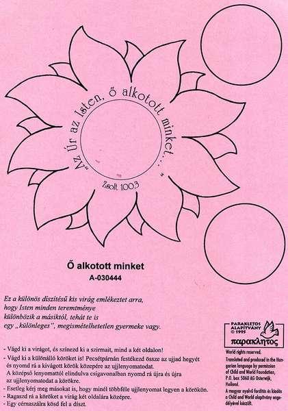 Ujjlenyomatos virág - Ő alkotott minket