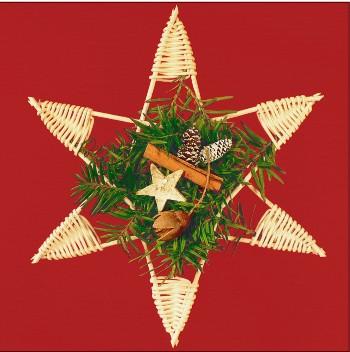 Karácsonyi fonott csillag - kosárfonó kézműves csomag