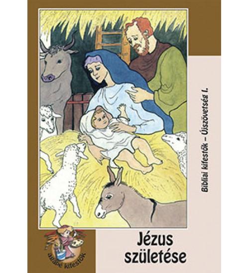 Jézus születése kifestő