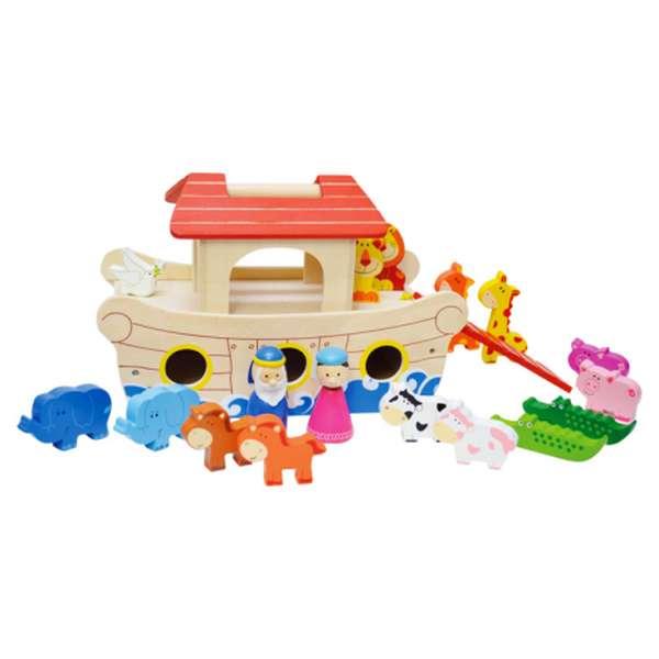 Noé bárkája tartozékokkal (kicsi)