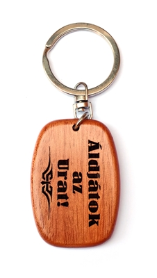 Kulcstartó, fa, ovális (Áldjátok az Urat!) - GK03-05H
