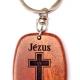 Kulcstartó, fa, ovális (Jézus a megváltóm) - GK03-03H