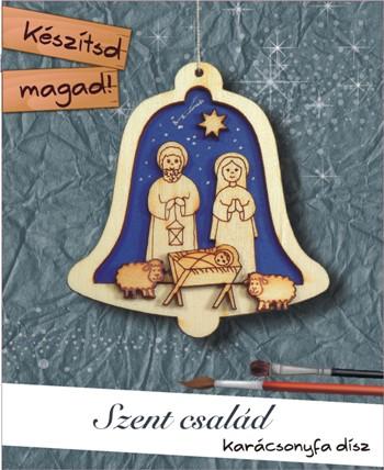 Szent család harang - Készítsd magad karácsonyfadísz
