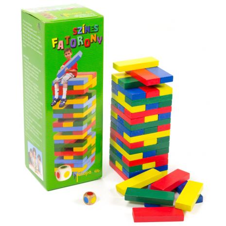 Jenga (színes fatorony)