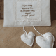 Kis méretű fali dísz szívecskével - igés